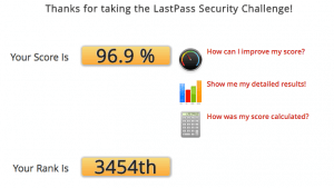 LastPass security challenge results