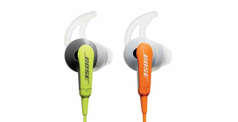 orange and green Bose headphones