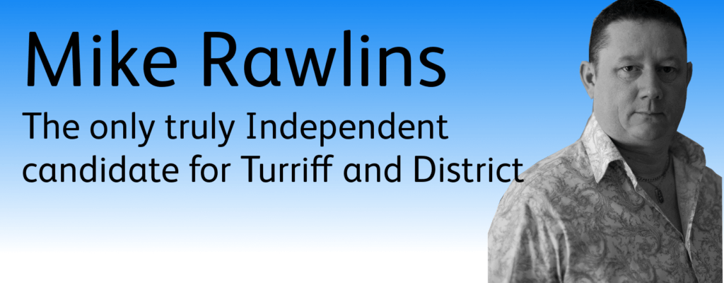 I'm standing as an Independent candidate in the local elections